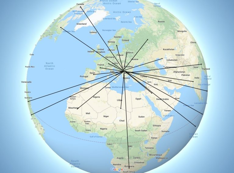 mapa sveta sa crtama